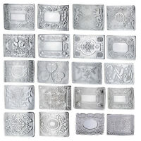 MEN'S SCOTTISH KILT BELT BUCKLES - CELTIC DESIGNS CHROME BUCKLES