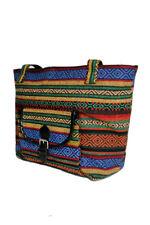 Women's Fashion Trendy Petite Navajo Boho Printed Canvas Tote Bag