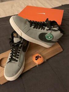 Nike SB Zoom Blazer Mid Light Grey Black Skateboard SIZE 11