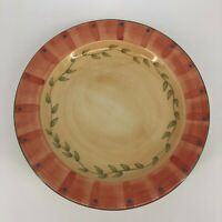 "SET of 6 - Pfaltzgraff Napoli 12"" Ceramic Hand Painted Dinner Plates"