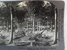 "WW1 A BATTERY OF ""270"" MORTARS (HOWITSERS) MT. ST. ELOI! KEYSTONE STEREOVIEW 80"
