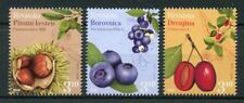 Croatia 2018 MNH Flora Bilberry Chestnut 3v Set Berries Plants Nature Stamps