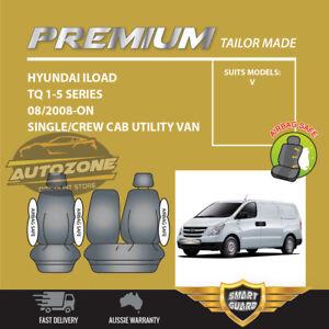 Premium Seat Covers for Hyundai ILOAD i-Load Van TQ 1-5 Series 08/2008-05/21 BLK