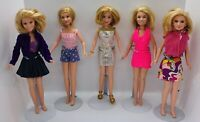 Lot of 5 Mary-Kate and Ashley Olsen Dolls  1987 Mattel Used **FREE SHIPPING**