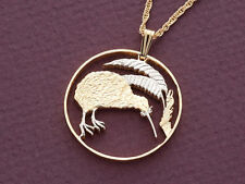 "New Zealand Kiwi ( Bird ) Coin Pendant Hand cut. 1-1/8"" diameter ( # 238"