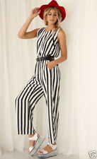 Polyester Hand-wash Only Striped Jumpsuits, Rompers & Playsuits for Women