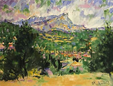 Mont Sainte Victoire by Rolf Harris - New, Signed & Numbered. Canvas on Board...