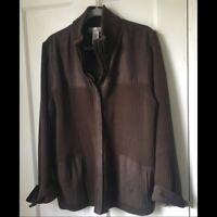 Jones NY Faux Suede Jacket 3X Full Zip EUC Brown