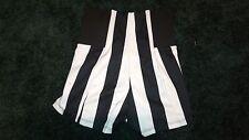 SololaFe Women's Black & White Stripe High Waist Shorts