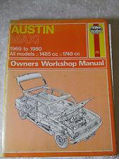 AUSTIN MAXI 1969 ~ 1980 1485  CC HAYNES SERVICE & REPAIR MANUAL