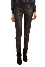 RRP €800 ERMANNO ERMANNO SCERVINO Leather Trousers Size 26 Black Made in Italy