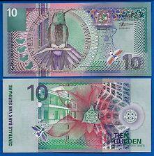Suriname P-147 Ten Gulden Year 2000 Uncirculated Banknote