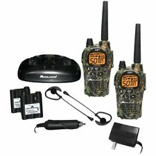Midland Two Way Radio 36 Mile Camo GMRS Pair Pack Drop In Charger Rechargeable