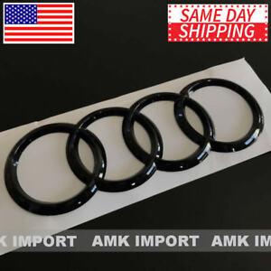 AUDI Rings Emblem Gloss Black Rear Trunk Badge Logo A1 A3 S3 A4 S4 A5 S5 A6 S6
