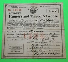 1932 Resident Ohio Hunting and Trappers License - #3