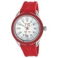 T10 MARACUJA WATCH IN SILICON , 3 SPHERES AND STRASS T10-C009R, RED