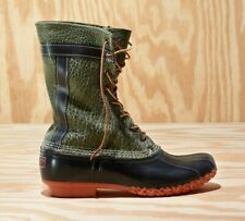 LL Bean x Todd Snyder Bean Boots in Olive Bison Leather (size 10)