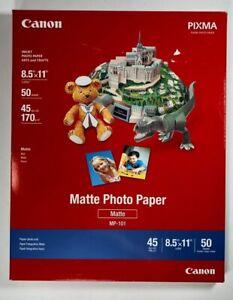 Canon Photo Paper Plus, Matte, 8-1/2 x 11, 50 Sheets/Pack (CNM7981A004)