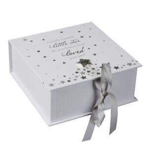 Twinkle Twinkle Star Keepsake Memory Box Baby Boy Girl Newborn Christening Gift