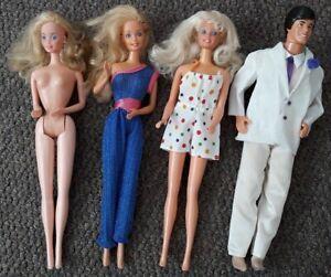 Barbie Dolls Vintage Bundle Includes Angel Face and Crystal Ken