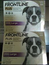 2 Pack Frontline Plus Large Dog 45-88 lb =6 Month Supply Flea & Tick =New 6 dose