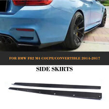 Carbon Fiber Side Skirts Extension Door Edge Lip Body Kits For BMW F82 M4 14-17
