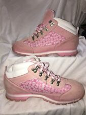 Timberland Designed Pink Leather  Boots Shoes Womens 11M, 63333222