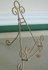 Picture Photo Easel Display Stand Gold Scroll Metal