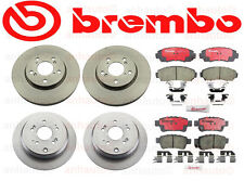 Honda Odyssey 05-10 Front+Rear Brake Rotors with Brake Pads Kit Brembo OEM