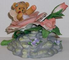 Cherished Teddies Avon Musical NEW # 4002792 Bear In Rose Tune Blue Danube