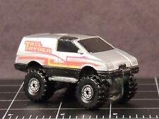 Hot Wheels Tall Ryder 1984 Die Cast Hong Kong 4X4 silver truck van 4 big wheel