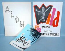 1950-60s Tahuna Polynesian Dancers Royal Hawaiians Hula Maids 3 Promo Pieces