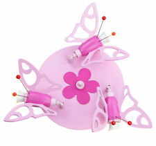 Deckenleuchte Deckenlampe Kinderlampe Motiv Falter NEU  Elobra rosa :
