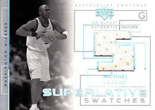Michael Jordan 2003 04 UD Glass Superlative Swatches Jersey Relic Wizards Bulls