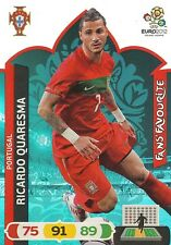 RICARDO QUARESMA # FAN'S FAVOURITE 1/36 PORTUGAL CARD PANINI ADRENALYN EURO 2012