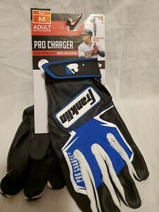 New Pair Adult Franklin 21381F2 Pro Charger Baseball Batting Gloves Size M