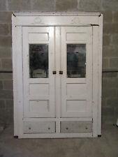~ Antique Oak Closet Front~ Built In Armoire Linen Cabinet ~ 63 X 87 ~ Salvage