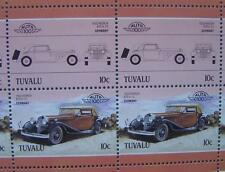 1932 HORCH 670 V12 Car 50-Stamp Sheet / Auto 100 Leaders of the World