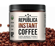 La Republica INSTANT Organic Fair Trade Coffee Powder (boutique batch rich dark)