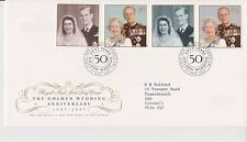 GB ROYAL MAIL FDC FIRST DAY COVER 1997 GOLDEN WEDDING STAMP SET LONDON PMK