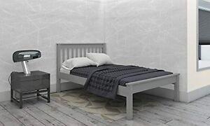 """Colorado 4'6"""" Bed Grey Low Foot End"""