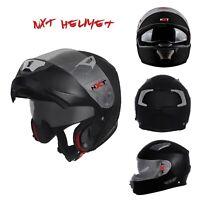New Full Face Motorcycle Race Helmets Motorcycle Flip UP Racing Visor Matt Black