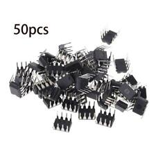 50Pcs NE555 NE555P DIP-8 SINGLE BIPOLAR TIMERS IC
