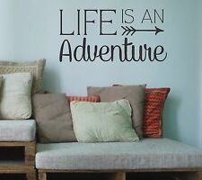 Life is an Adventure-Vinyl Wall Decal- Wall Quotes- Family Quotes-Arrow Design-