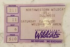Northwestern vs Illinois Basketball Ticket Stub 2/19 2000 Record Fewest Points