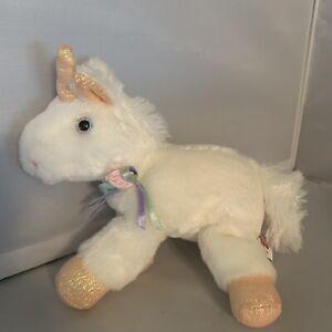 Aurora Unicorn Gold Horn Hooves Sparkly Plush Stuffed Animal