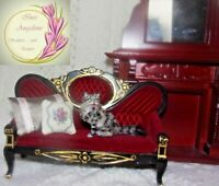 Tabby cat Dollhouse realistic OOAK miniature 1:12 handsculpted handmade IGMA dog