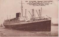 """CPA  le Havre - paquebot """"Lafayette"""""""