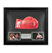 Framed Ricky Hatton Signed Boxing Glove - Red Lonsdale Autograph