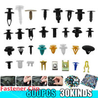 800PCS Mixed Auto Car Fastener Clips Bumper Fender Trim Plastic Rivet Door Panel